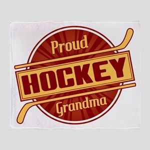 Proud Hockey Grandma Throw Blanket