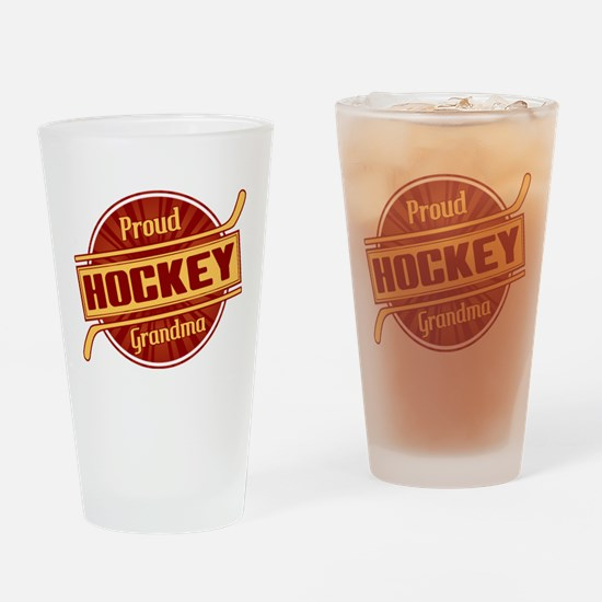 Proud Hockey Grandma Drinking Glass