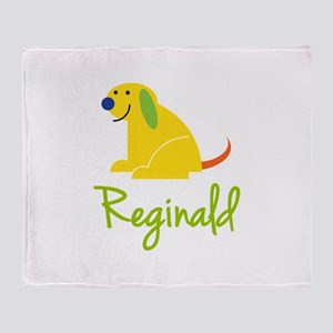 Reginald Loves Puppies Throw Blanket