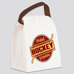 Proud Hockey Grandma Canvas Lunch Bag