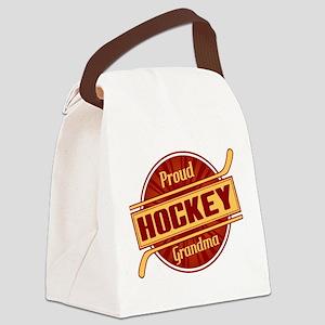 Proud Hockey Grandma Canvas Lunch Bag