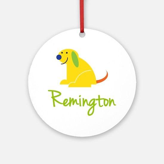Remington Loves Puppies Ornament (Round)