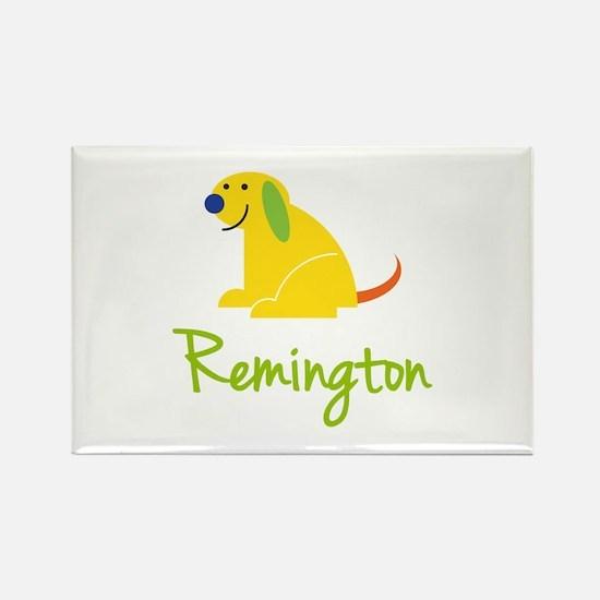 Remington Loves Puppies Rectangle Magnet