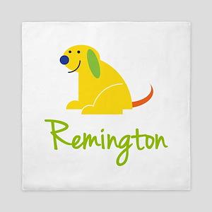 Remington Loves Puppies Queen Duvet