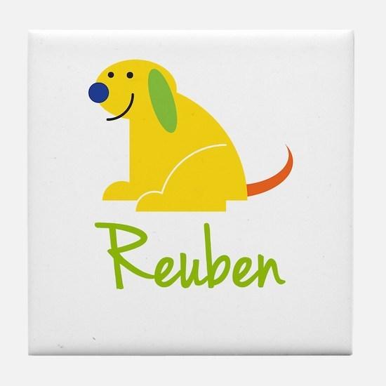 Reuben Loves Puppies Tile Coaster