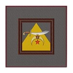 Scimitar and Pyramid Ceramic Tile