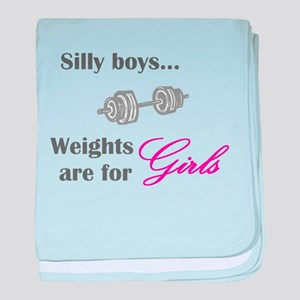 Silly boys...Weights are for Girls. baby blanket