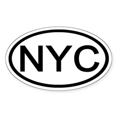 NYC Oval - New York City Oval Decal