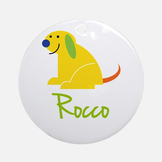 Rocco Loves Puppies Ornament (Round)