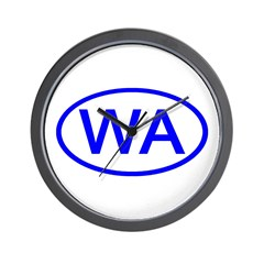 WA Oval - Washington Wall Clock