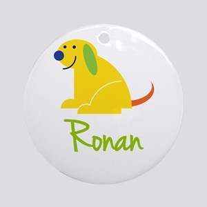 Ronan Loves Puppies Ornament (Round)