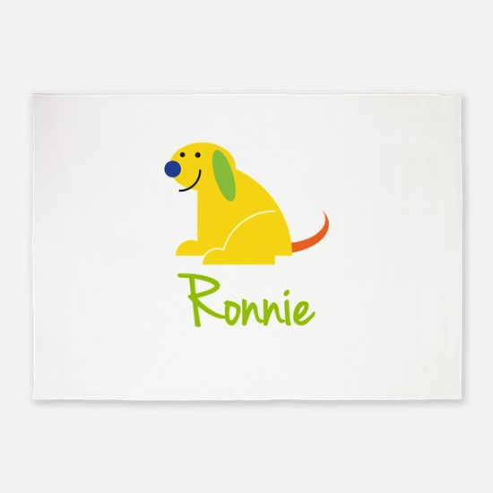 Ronnie Loves Puppies 5'x7'Area Rug