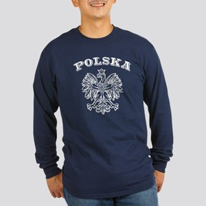 polska Long Sleeve Dark T-Shirt