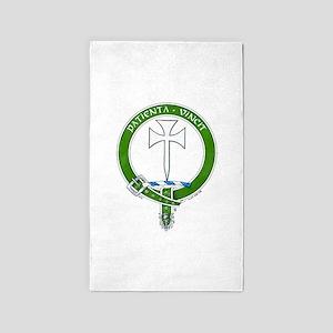 Clan Cheyne Scottish Crest Area Rug