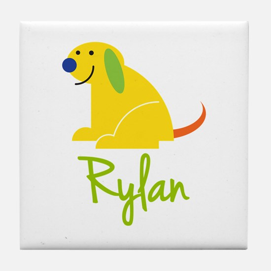 Rylan Loves Puppies Tile Coaster