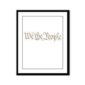Protect constitution! Framed Panel Print