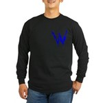 Wasted, Inc. Logo Long Sleeve Black/Blue T-Shirt