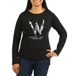 Wasted, Inc. Full Logo Women's Long Sleeve Black T