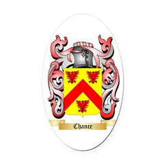 Chance Oval Car Magnet