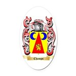 Champs Oval Car Magnet