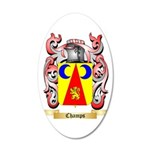 Champs 35x21 Oval Wall Decal