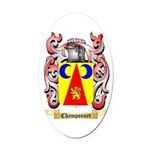 Champonnet Oval Car Magnet