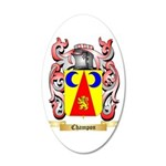 Champon 20x12 Oval Wall Decal