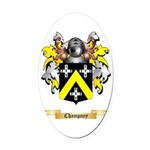 Champney Oval Car Magnet