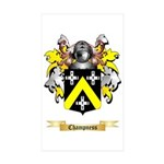 Champness Sticker (Rectangle 50 pk)