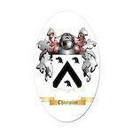 Champion Oval Car Magnet