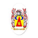 Champel Oval Car Magnet