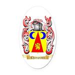 Champeaux Oval Car Magnet