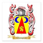 Champeau Square Car Magnet 3