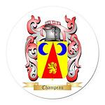 Champeau Round Car Magnet