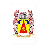 Champeau Sticker (Rectangle 10 pk)