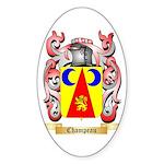 Champeau Sticker (Oval 50 pk)