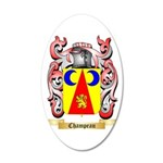 Champeau 35x21 Oval Wall Decal
