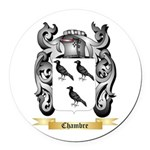 Chambre Round Car Magnet