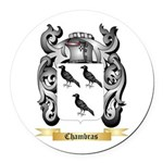 Chambras Round Car Magnet
