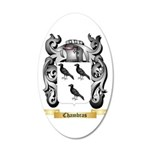 Chambras 20x12 Oval Wall Decal