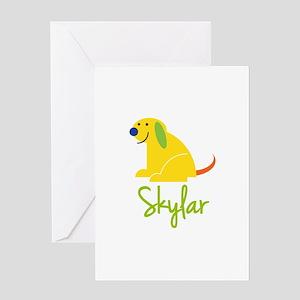 Skylar Loves Puppies Greeting Card
