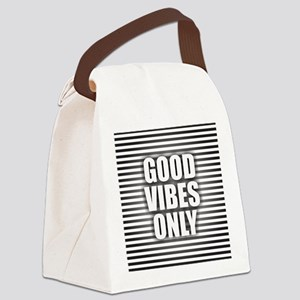 Good Vibes Only Canvas Lunch Bag
