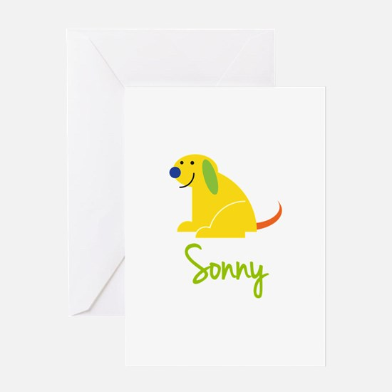 Sonny Loves Puppies Greeting Card