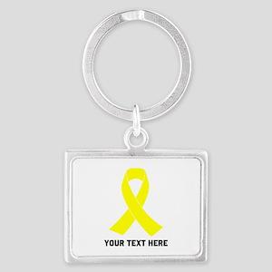 Yellow Ribbon Awareness Landscape Keychain