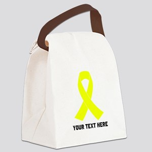 Yellow Ribbon Awareness Canvas Lunch Bag