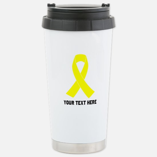 Yellow Ribbon Awa Travel Mug