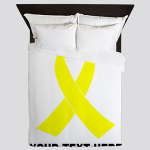 Yellow Ribbon Awareness Queen Duvet