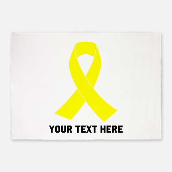 Yellow Ribbon Awareness 5'x7'Area Rug