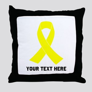 Yellow Ribbon Awareness Throw Pillow