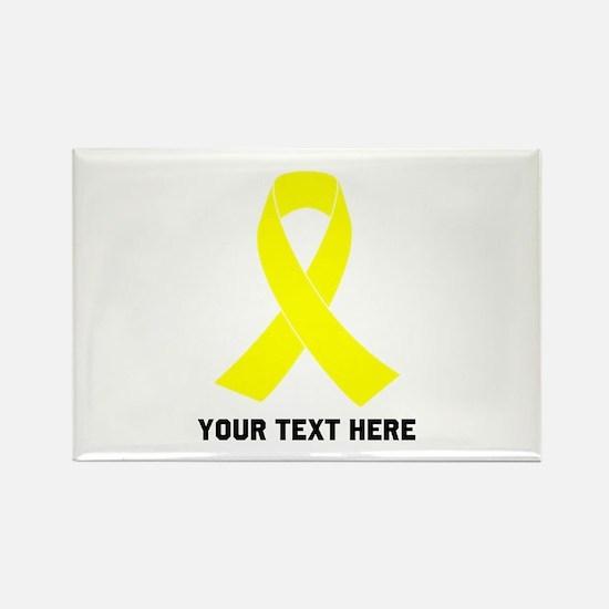 Yellow Ribbon Awareness Rectangle Magnet
